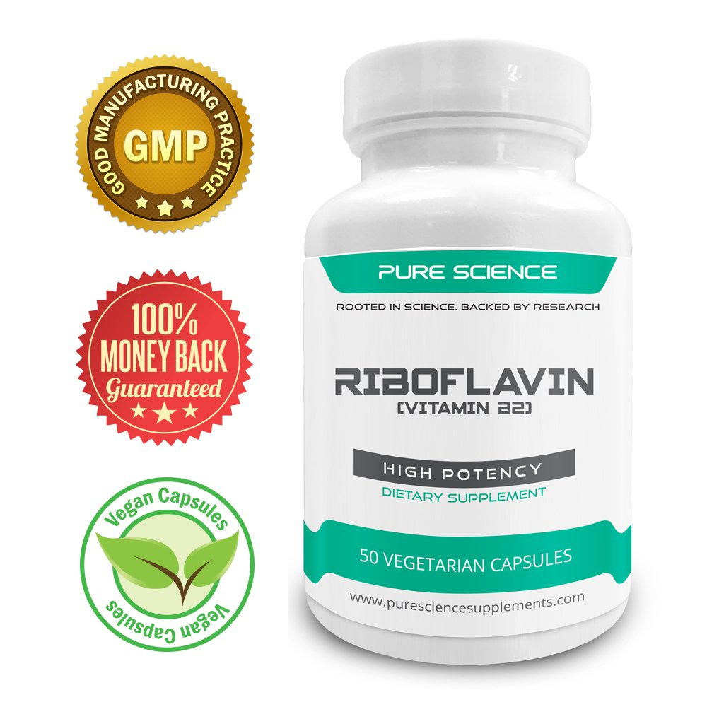 Pure Science Vitamin B2 Riboflavin 400mg � Promotes Red Blood Cell Production