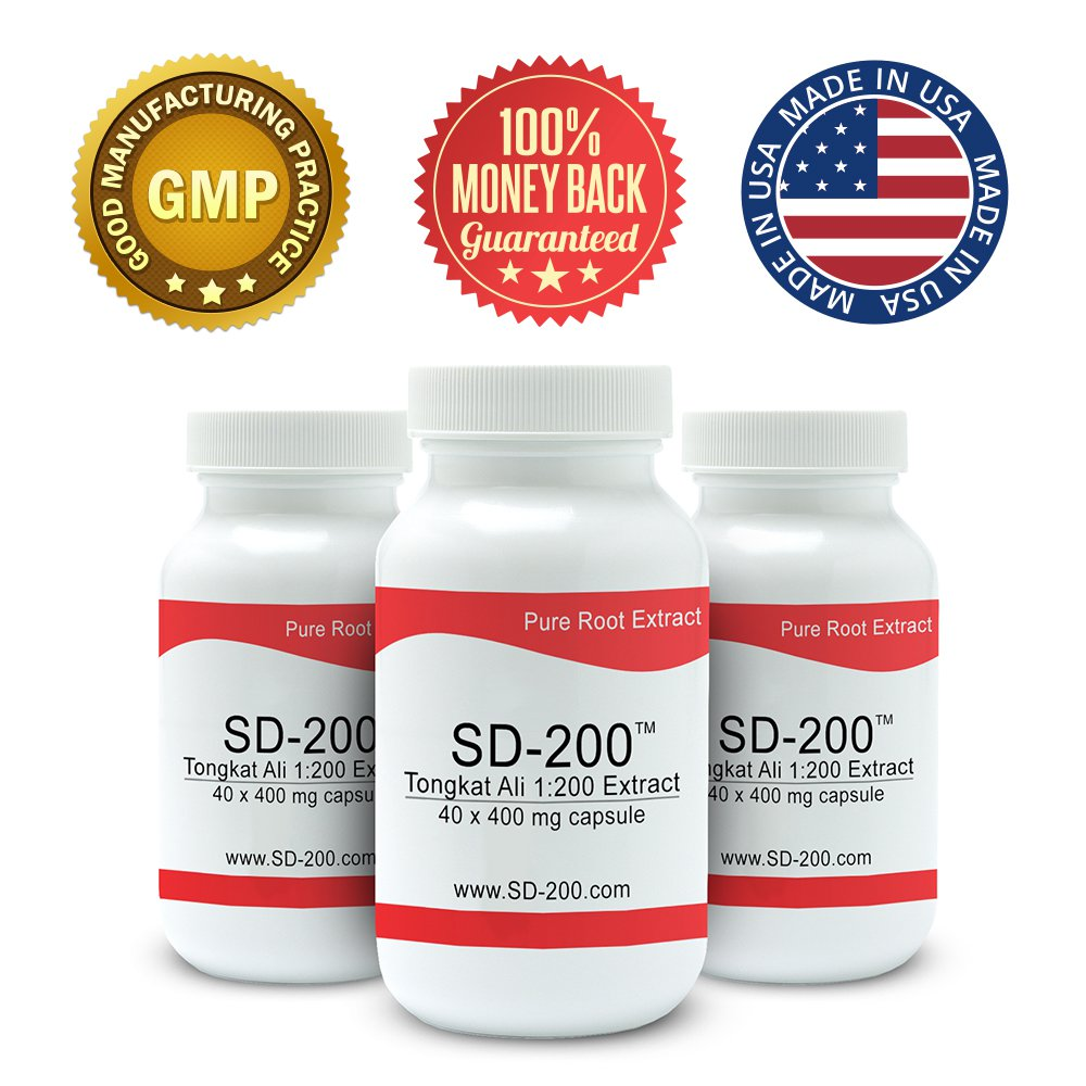 Pure Science SD-200 - 200:1 Tongkat Ali Extract - Natural Testosterone Booster