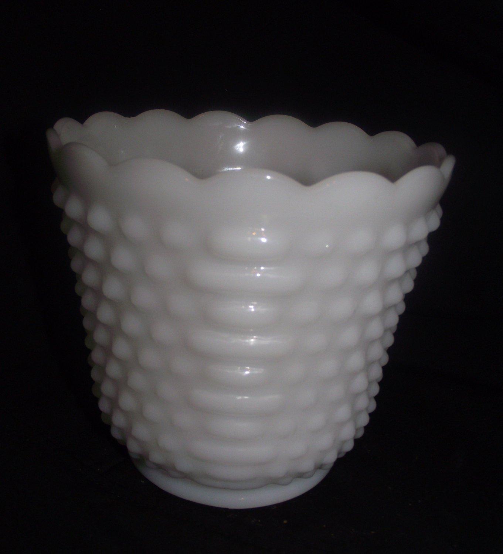 Fire-King Oven Ware Hobnail White Milk Glass Anchor Hocking Bowl Planter #6