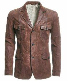 Rhythm Brown Leather Blazer