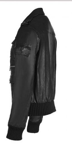 Rhythm Deep Black Leather Jacket