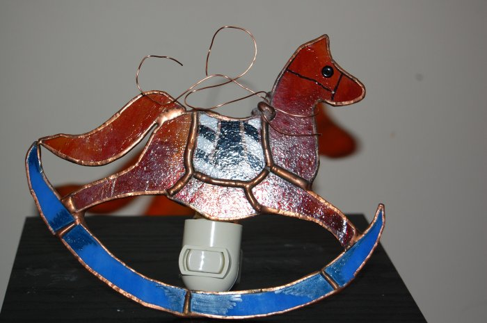 Horse slides nightlight