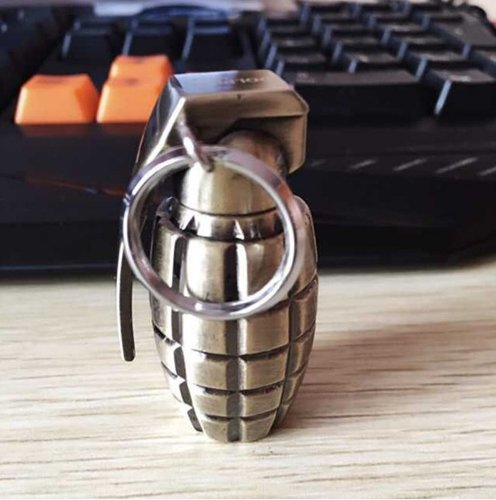 Fire Starter Survival Grenade Keychain