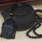 Black Obsidian Buddha Pendant
