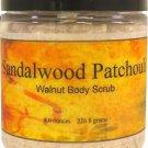 Sandalwood Patchouli Walnut Body Scrub, 8 oz