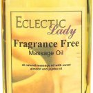Fragrance Free Massage Oil