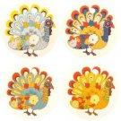 Turkey Car Air Freshener, Assorted Turkeys, 4 Pack