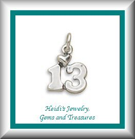 "Teen's/Children's Jewelry Thirteen ""13"" Sterling Necklace/ Free Shipping"