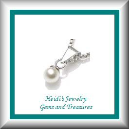 Baby/Children's Jewelry White Pearl Sterling Silver Necklace/ Free Shipping