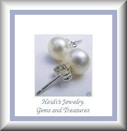 Childrens Fashion Jewelry White Pearl Sterling Earrings/ Free Shipping