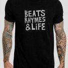 Beats Rhymes & Life Classic New York Hip Hop Black T-Shirt, T-Shirts for Men