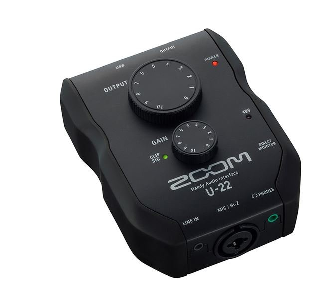 Zoom U-22 - USB Mobile Recording and Performance Interface - mic/line level with volume
