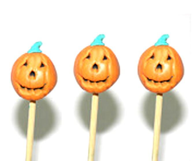 Haloween Pumpkin Toothpicks