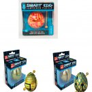 A set of 3 Labyrinth Puzzle 1-Layer Smart Eggs - Groovy, Hive & Jester