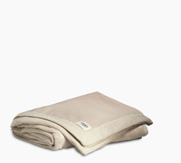 Ugg Duffield Throw Soft Blanket - Oatmeal Heather