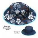 Baby Banz BHRBRT UV Blue Sea Turtle Reversible Hat - Ages 0-2 Years