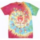 M and Ms Candy Spiral  T-Shirt Mens Tie-Tye - Large