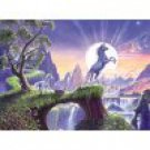 Unicorn Moon Poster Print by Steve Crisp 18x9in