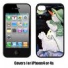 Snowman with Westie Cell Phone cover IPHONE4 4S