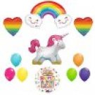 The Ultimate Rainbow Hearts Full Body Unicorn Birthday Party Supplies