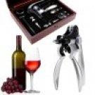 9 Piece Set  Wine Bottle Opener Tools  Corkscrew Stopper Foil Cutter in Mahogany Box GlSTE