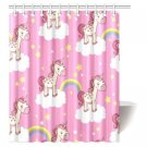 MYPOP Teen Girls Decor Shower Curtain with hooks, Fantasy Myth Unicorn with Rainbow, 60 X 72 Inches