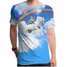Koala Unicorn Sublimated Mens 100% Poly  Crew T-Shirt - XL