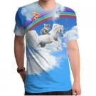 Koala Unicorn Sublimated Mens 100% Poly  Crew T-Shirt - L