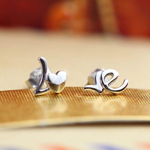 New-Women-Lady-925-Sterling-Silver-Heart-LOVE-Ear-Stud-Earrings-Jewelry-Gift