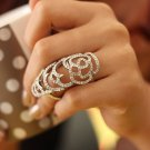 Blink Fashion Party Long Finger Rings for Men and Women Silver Plated Rose Hollow Out Ring Part