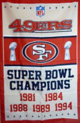 49ers 5x Super Bowl Champions Banner