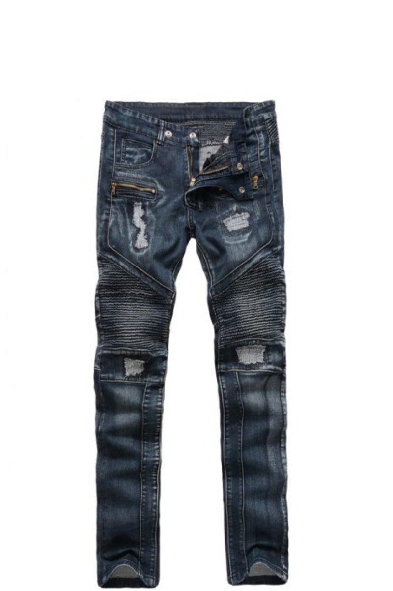 Ribbed Insert Straight Leg jeans