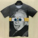 Round Neck 3D Cartoon Splicing Formula Print Slimming Short Sleeve Men's T-Shirt