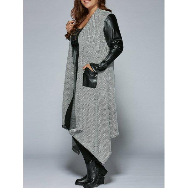 Patchwork Asymmetrical Coat