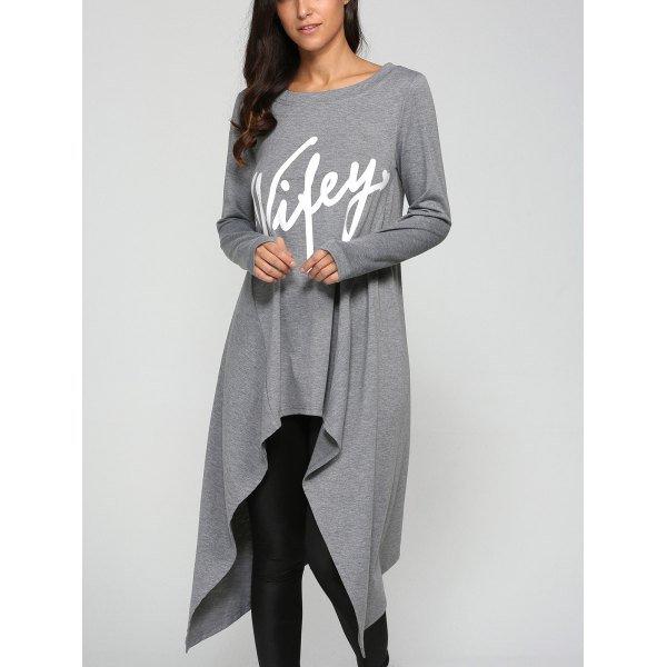 Graphic Print Asymmetrical Dress