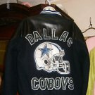VINTAGE DALLAS COWBOY NFL WOOL AND LEATHER VARSITY JACKET SIZE L-XL