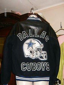 VINTAGE DALLAS COWBOY NFL WOOL AND LEATHER VARSITY JACKET SIZE L-XL