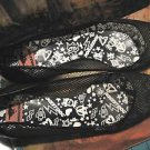ROCKET DOG BLACK PATENT MESH FLATS SIZE 8.50