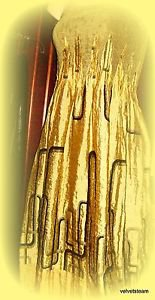 OLIVE AND BROWN STRAPLESS KNIT TUBE DRESS REVERSABLE TO BROWN AND GOLD SIZE M