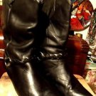 THE WHARF BLACK WOMENS ROPER HEEL BOOTS SIZE 6.50