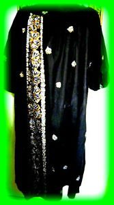 HAWAIIAN TOGS 100% COTTON MUU-MUU ORNATE HANDPAINTED DESIGN  SIZE M-XL