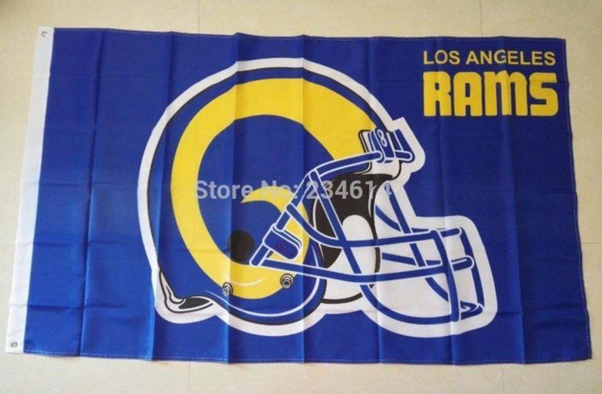 Los Angeles Rams helmet flag 3FTx5FT Banner 100D Polyester Flag metal Grommets