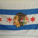 Chicago Blackhawks USA Team Logo NHL Premium Team Hockey Flag 3X5FT