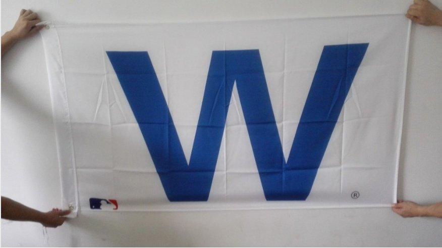 Chicago CUB W logo flag 3FTx5FT Banner 100D Polyester Flag metal Grommet