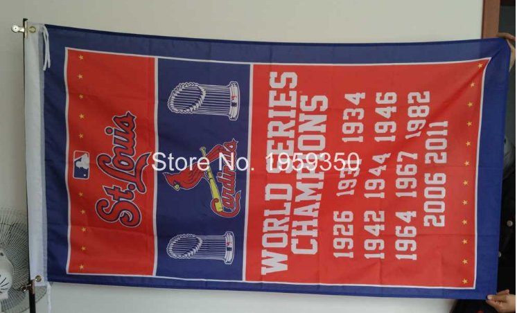 St Louis Cardinals Team champion Flag 3x5FT MLB Banner 90x150cm with metal grommets