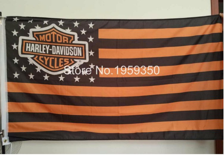 motor cycles flag 3ftx5ft Banner 100D Polyester Flag metal Grommets 90x150cm