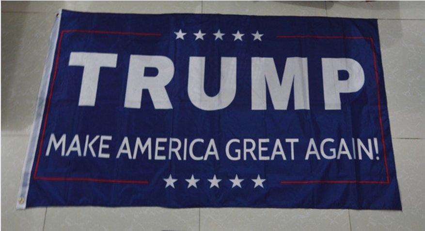 Trump flag make america great again 3ftx5ft Banner 100D Polyester Flag metal Grommets 90x150cm