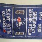 Toronto Blue Jays world seres champions flag MLB 3ftx5ft Banner 100D Polyester