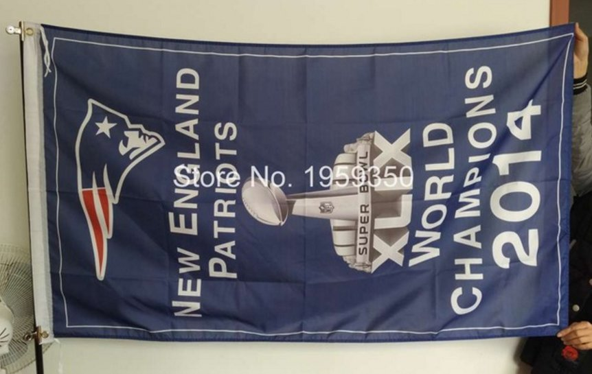 New England Patriots world champions 2014 Flag 3ft x 5ft Polyester banner