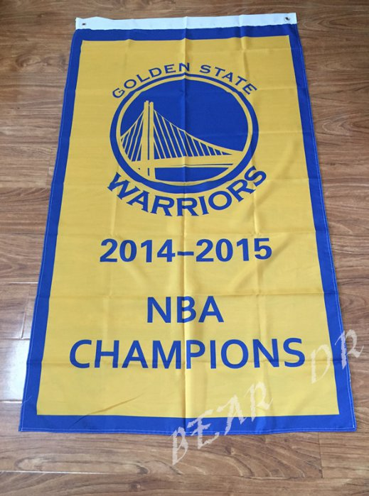 Golden State Warriors World Champions Flag 3ft x 5ft Polyester NBA Banner flag style 1